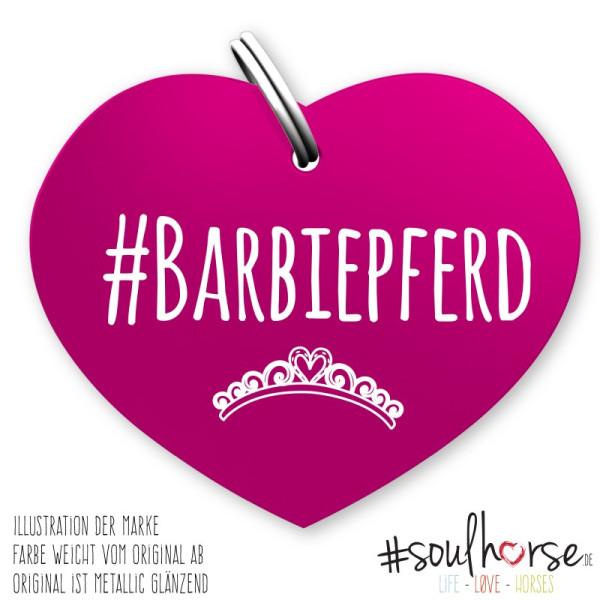 Herzmarke Barbiepferd in pink
