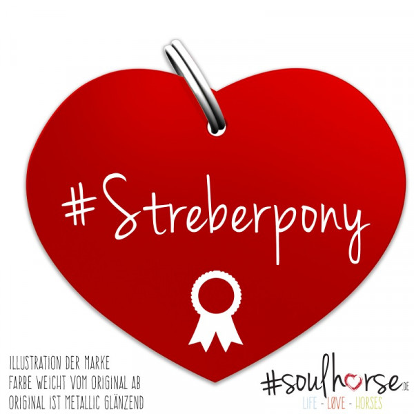 Streberpony Herz rot