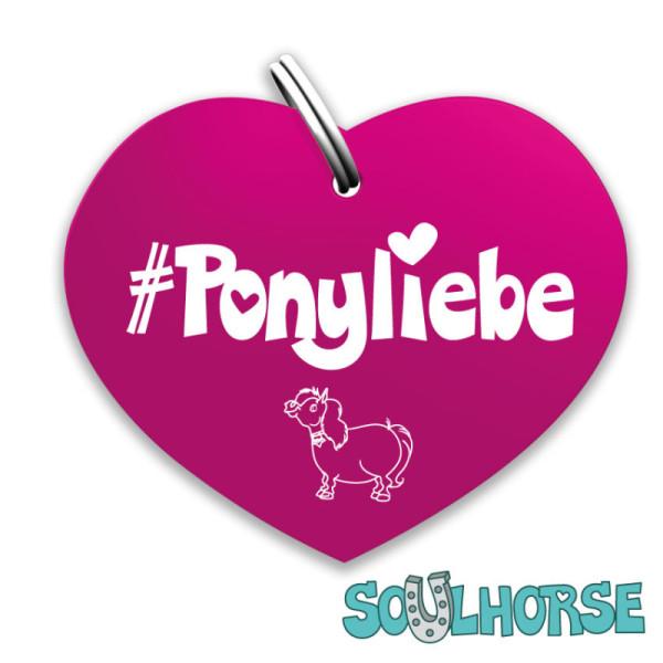 Ponyliebe Herz pink