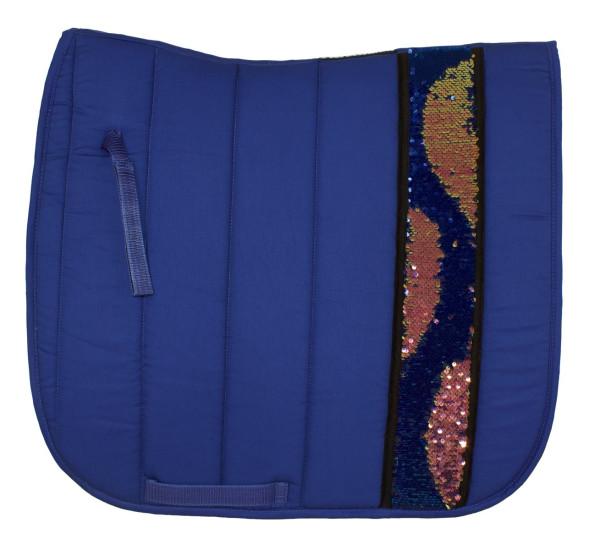Dressurschabracke Magic Touch royalblau, Pailletten 2-farbig