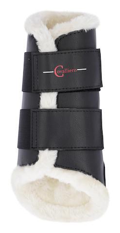 Dressurgamaschen Fleece schwarz vorne