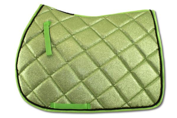 Glitzer Schabracke, grün