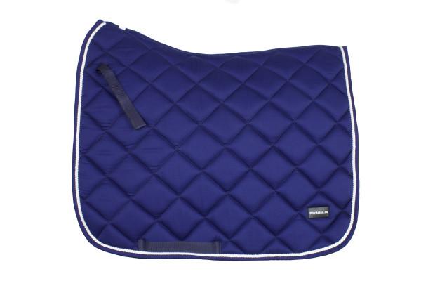 Dressurschabracke konigsblau mit weißer Zierkordel