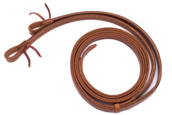 Split Reins Westernzügel, medium oiled, Breite 5/8, 16 mm, waterloop