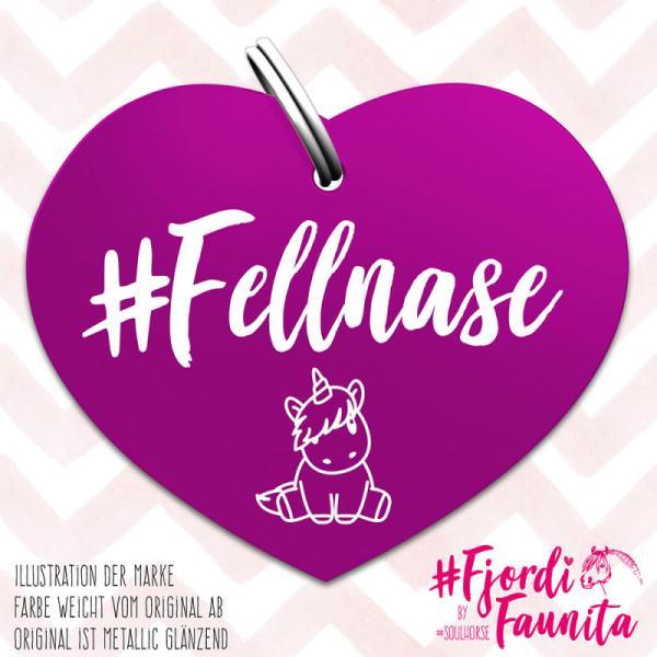 Fellnase Marke lila