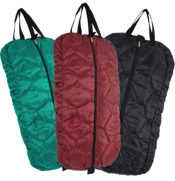 Nylon Trensentasche gepolstert, bridle bag, türkis, rot, schwarz