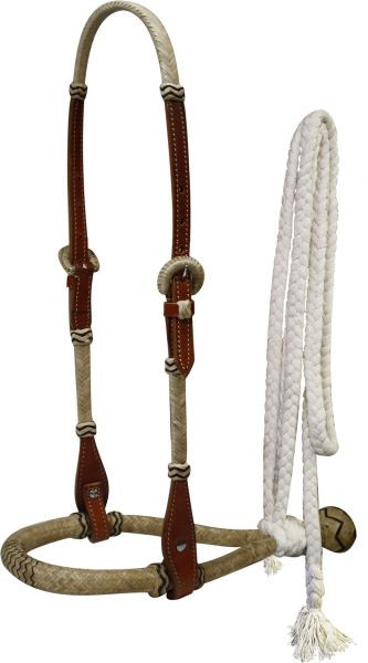 Bosal, Set mit Hanger und Baumwoll Mecate, aus Leder & Rohhaut