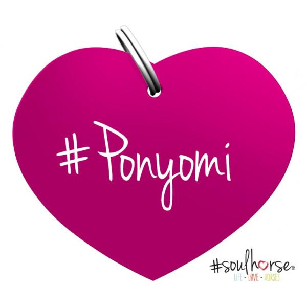 Herzmarke Ponyomi in pink