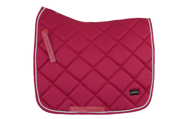 Dressurschabracke pink mit weißer Zierkordel, Pferdelon