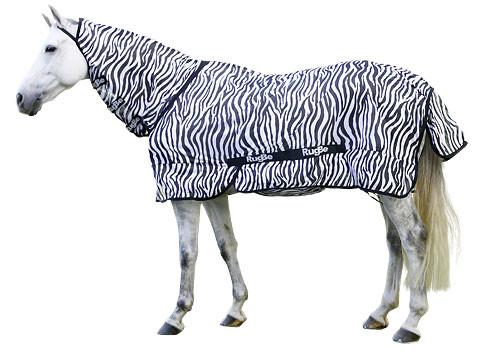 RugBe Zebra Fliegen- und Ekzemerdecke mit Halsteil