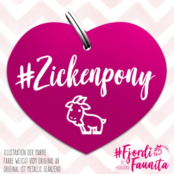 Zickenpony Marke pink