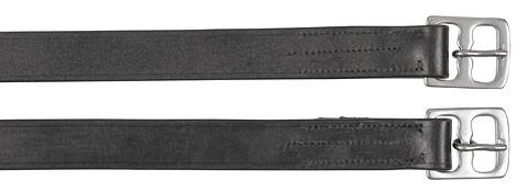 Steigbügelriemen Leder schwarz