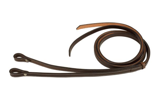 Split Reins Westernzügel, dark oiled, Breite 5/8, 16 mm, dunkel, Ziernaht
