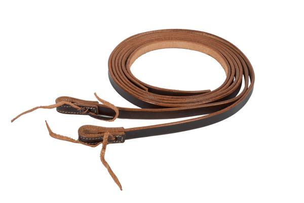Split Reins Westernzügel, dark oiled, Breite 5/8, 16 mm, waterloop, dunkel