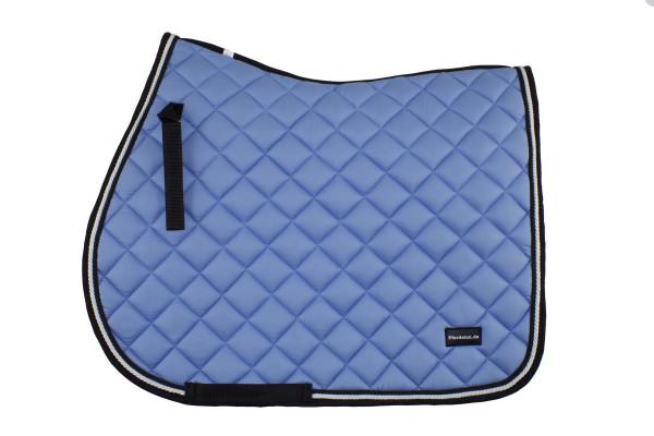 Schabracke babyblau mit Kordel schwarz-weiß, Vielseitigkeit, Pferdelon